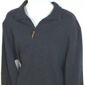 HUDSON RIVER Mens XL 1/4 Zip Pullover Long Sleeve
